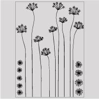 Despiece vinilo floral con piezas sueltas